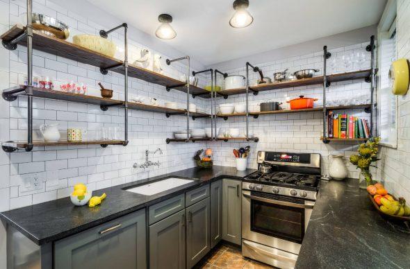 кухонные угловые полки