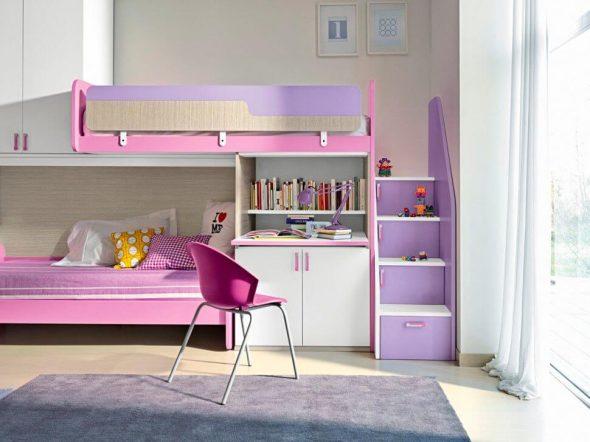 нежная кровать для девочки