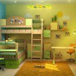 обустроить детскую комнату для разнополых детей