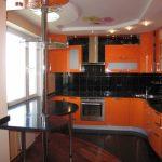 кухонный гарнитур оранжевый
