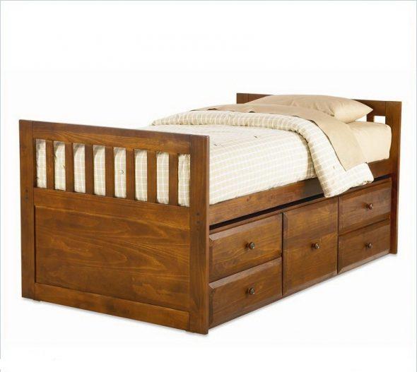 подростковые односпальные кровати из массива дерева
