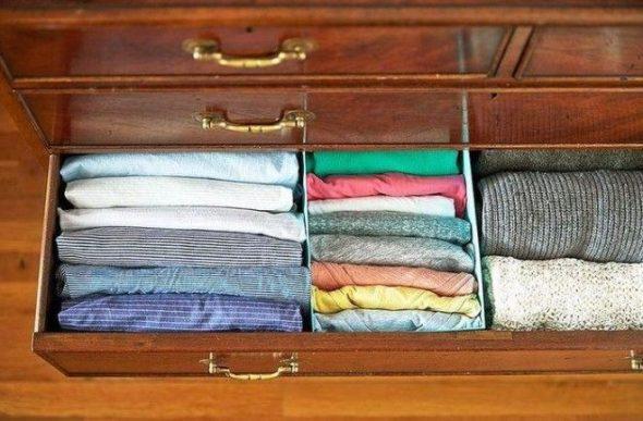 порядок в ящиках шкафа