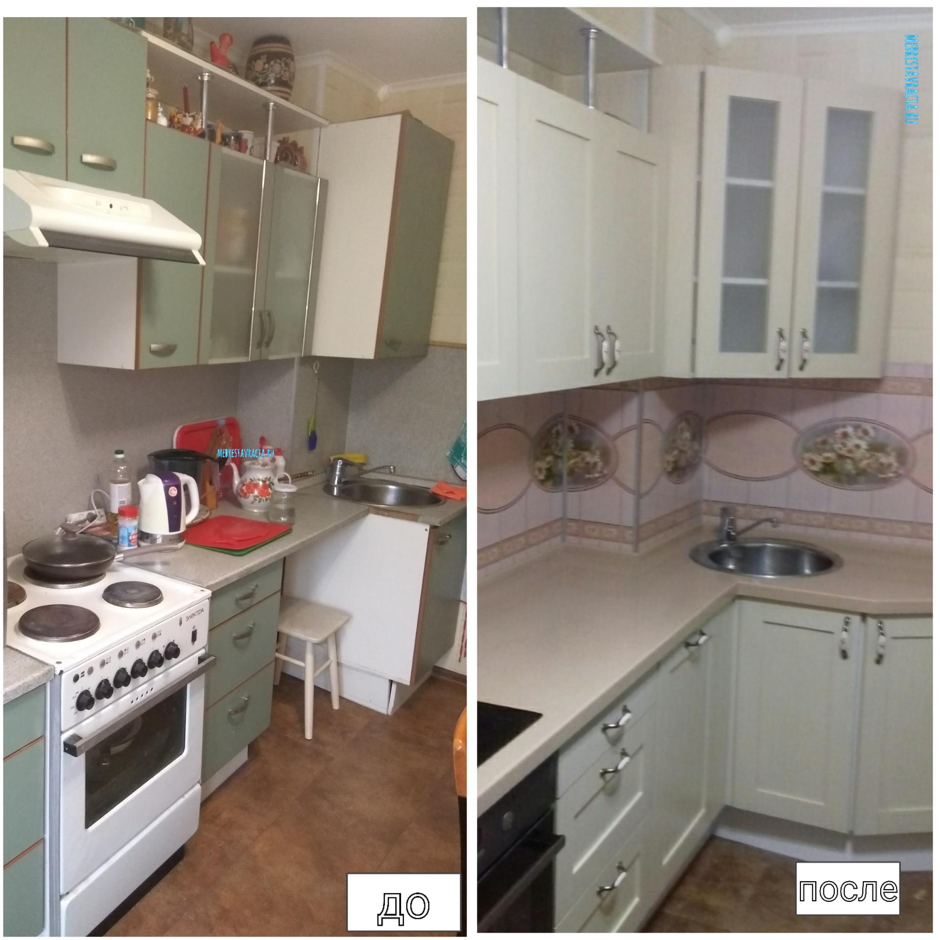Реставрация фасадов кухни своими руками 21