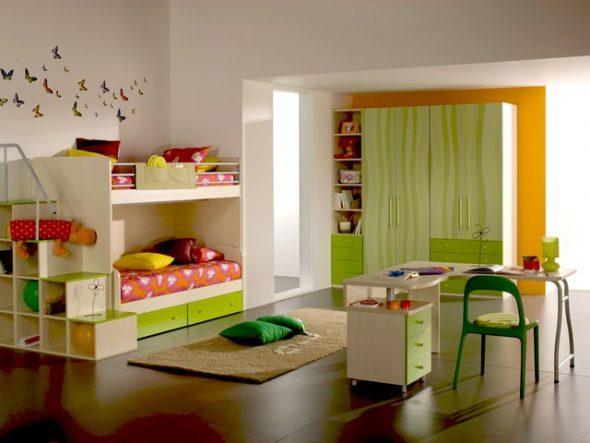 расстановка детской мебели