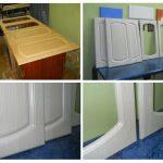 реставрация дверей кухонного шкафа