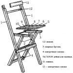 сделать деревянный складной стул со спинкой фото