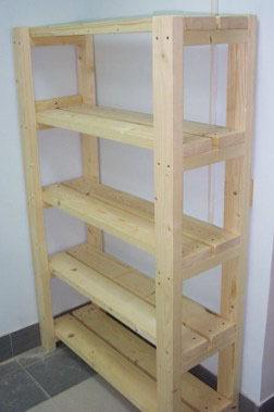 Сделать деревянный стеллаж своими руками