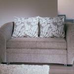 кресло кровать серое с подушками