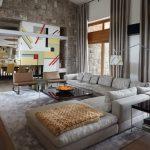 серый диван угловой