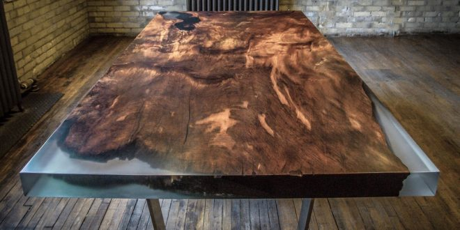 создания невероятной мебели из эпоксидной смолы и дерева