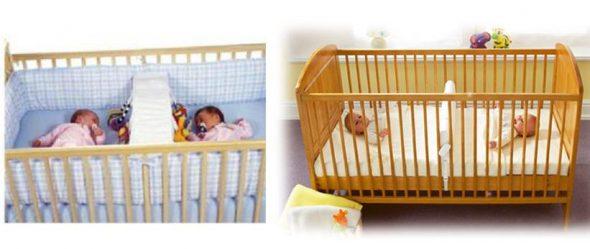 существуют манежи-кроватки для двойни