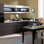 кухонные шкафы темные