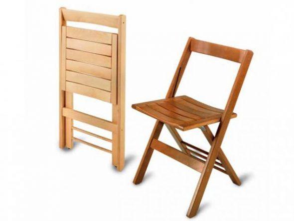 вариант складного стула со спинкой