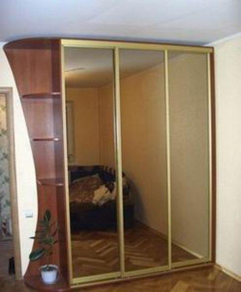 зеркальные двери-серебро