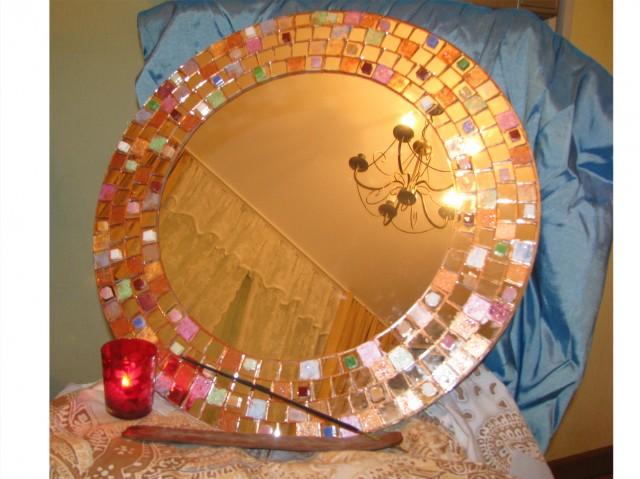 Как за декорировать зеркало своими руками