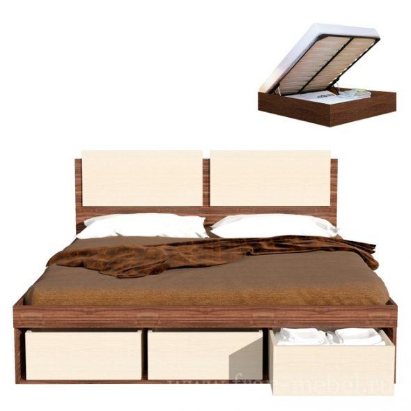 Art-Sit Двуспальная кровать с ящиками для белья