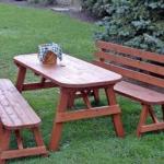 Дачный столик и скамейки для приятных посиделок на свежем воздухе