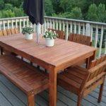 Деревянный стол своими руками-идея для дачи