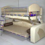 диван кровать трансформер светлый