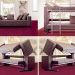 диван трансформер в двухъярусную кровать идеи дизайна фото