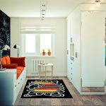 Дизайн угловой однокомнатной квартиры 32 кв. м.