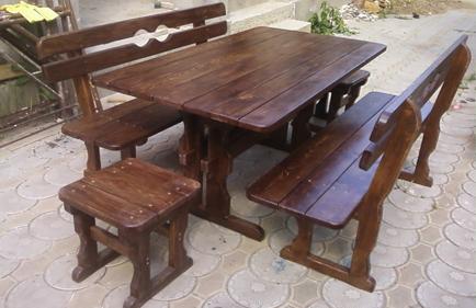 Деревянный стол своими руками фото в беседку