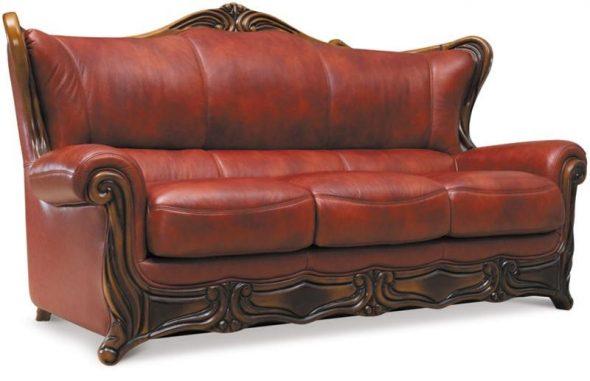 Галилей раскладной диван из кожи