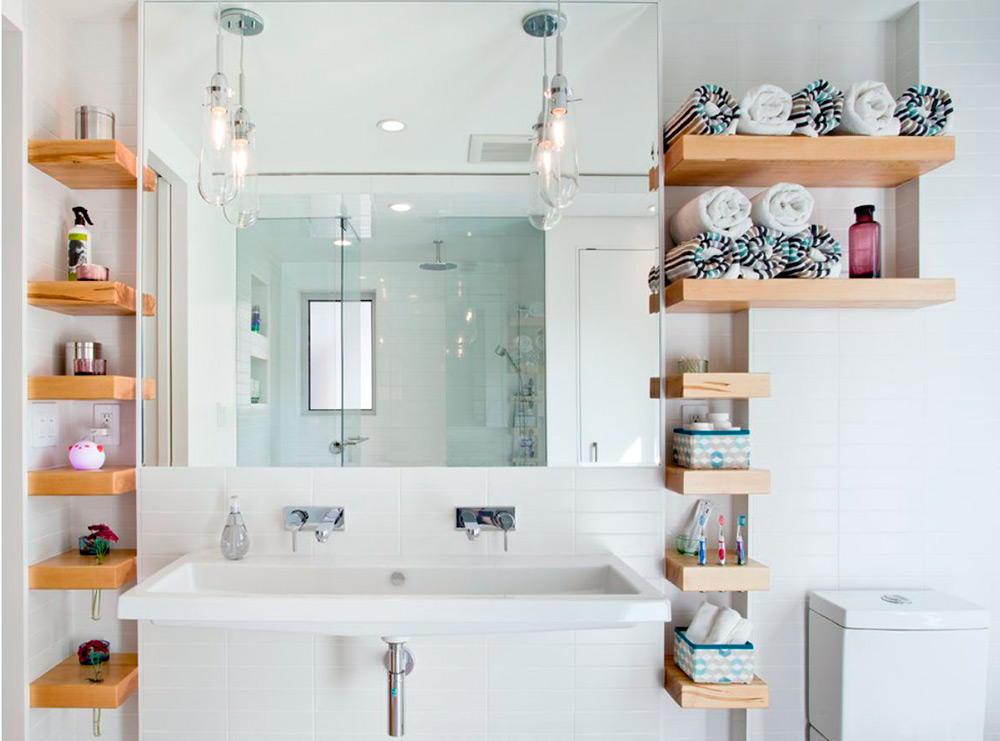 Фото полочек для ванной своими руками