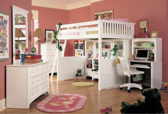 кровать стол белого цвета