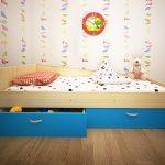 Кровать детская с ящиками от 3 лет