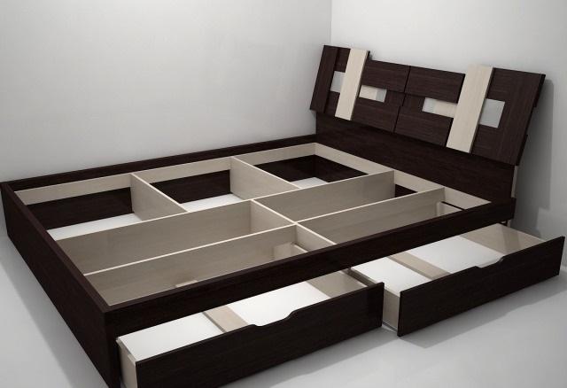 Как сделать кровать с ящиками из дсп своими руками 73