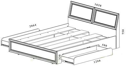 Чертежи кровать с ящиками своими руками
