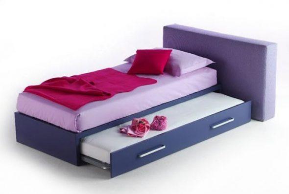 Кровать с ящиками для девочки