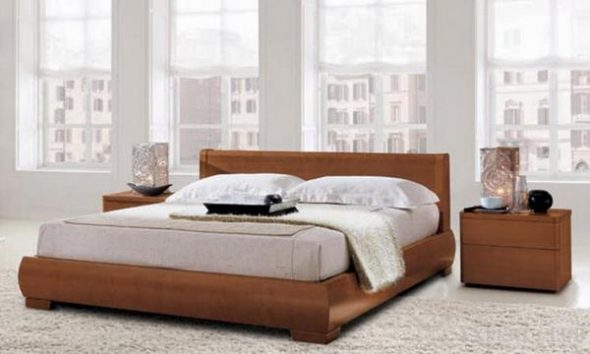Кровать в стиле модерн из массива дерева