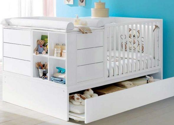 Кроватки для новорождённых с ящиками
