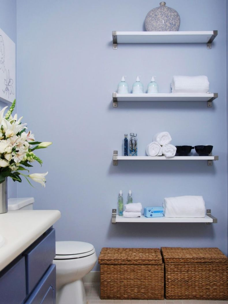 Полочки для ванной дизайн фото