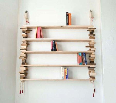 сделать книжную полку своими руками