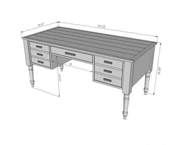 Письменный стол размеры