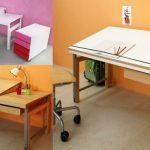 Письменный стол с регулируемой столешницей