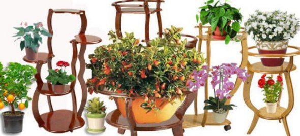 Подставка для цветов из дерева