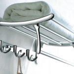 Полка для полотенец в ванную комнату метеллическая
