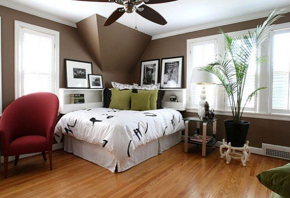 Расположение кровати в углу