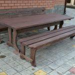 Садовый стол и лавка