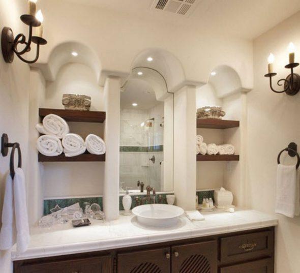 Современные полки для ванной своими руками