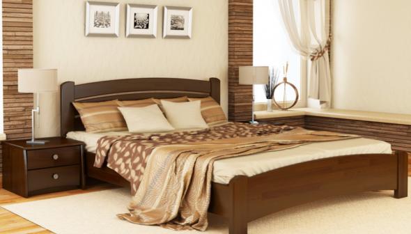 Венеция люкс кровать бук массив