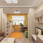 Зонирование однокомнатной квартиры для семьи с ребенком