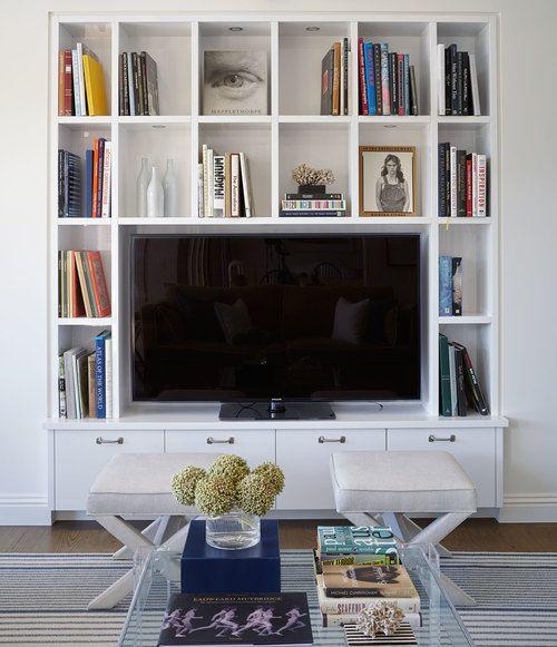 белая стенка для книг
