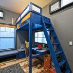 детская кровать чердак синяя