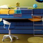 диван двухъярусная кровать трансформер синий