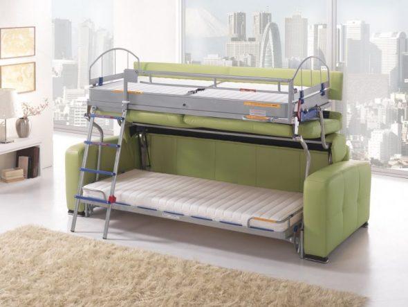 диван трансформер в двухъярусную кровать обзор советы по выбору